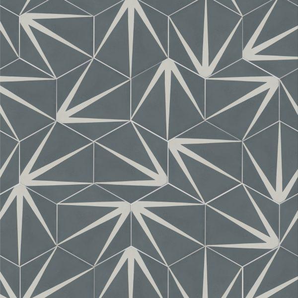 Lily Pad Denim Pattern Tile Ca Pietra