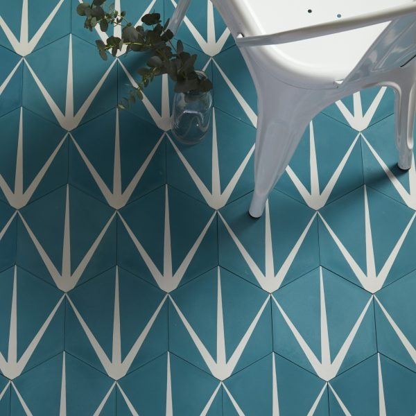 Lily Pad Marine Pattern Tile Ca Pietra