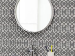 Modern Lattice Grey Tile