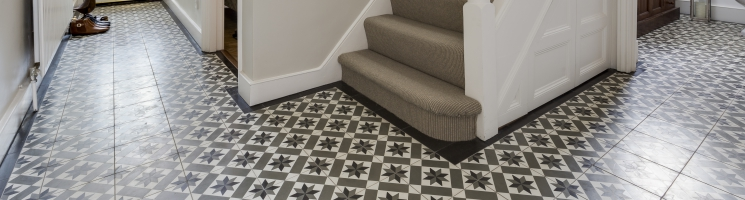 Make an entrance with beautiful floor tiles