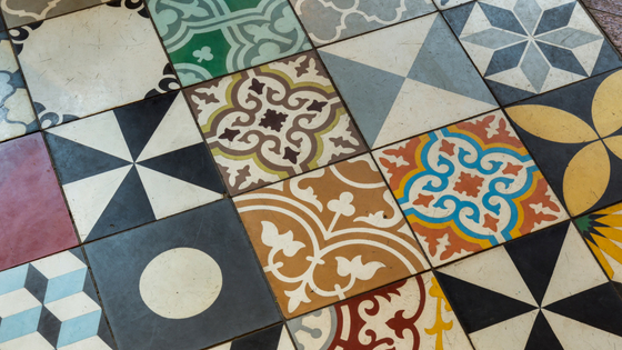 Patchwork Multi-coloured tile